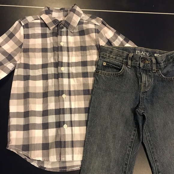 Children's Place Jeans and Shirt, Size 5